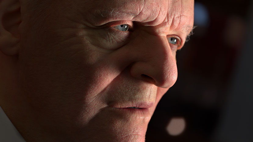 Anthony Hopkins Face Close-Up